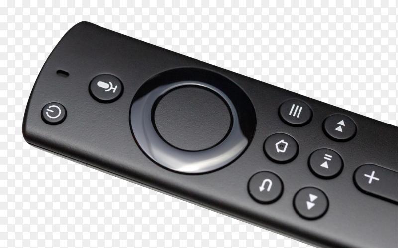 Tv remote on transparent background PNG