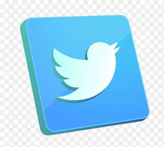Twitter icon on transparent background PNG