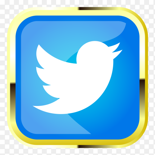 Twitter icon style on transparent background PNG