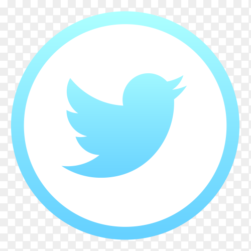 Twitter logo clipart PNG