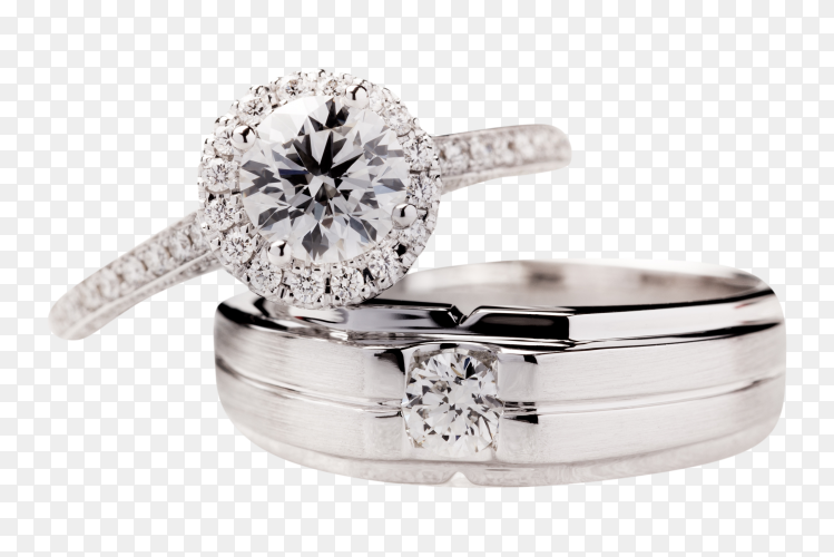 Wedding ring on transparent PNG