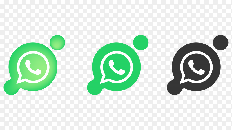 Whatsapp icons design on transparent background PNG