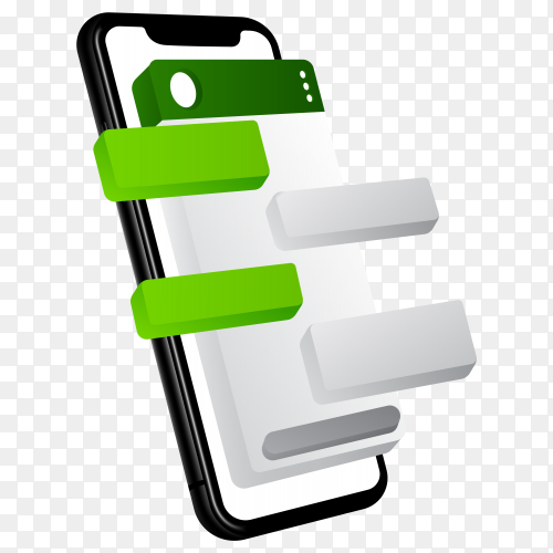 Whatsapp layout on transparent background PNG