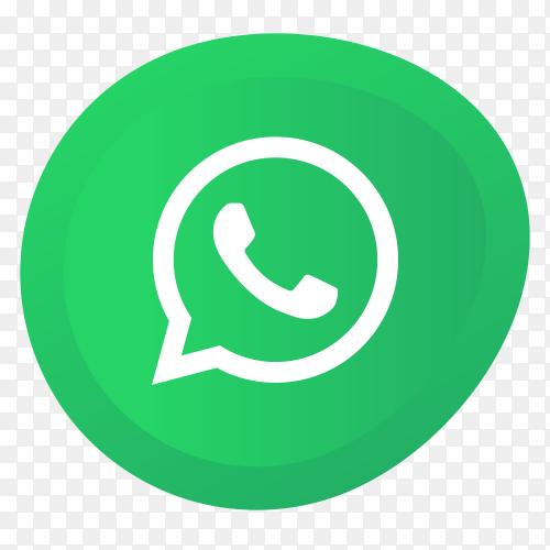 Whatsapp logo premium vector PNG