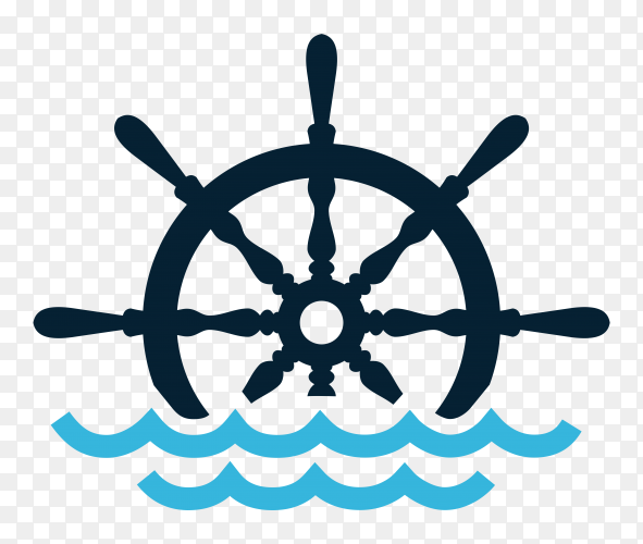 Wheel ship design on transparent background PNG