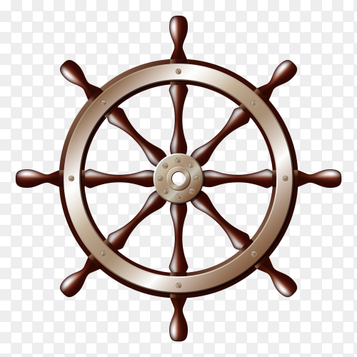 Wheel ship isolated on transparent background PNG