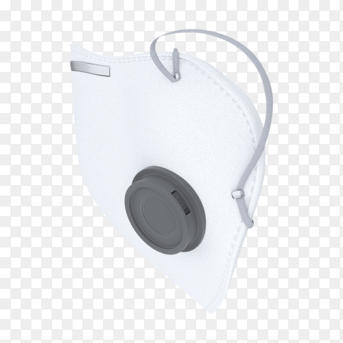 White Doctor mask isolated on transparent background PNG