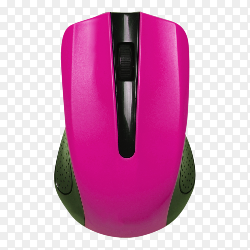 Wireless mouse on transparent background PNG