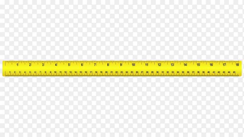Yellow Measure tape ruler on transparent background PNG