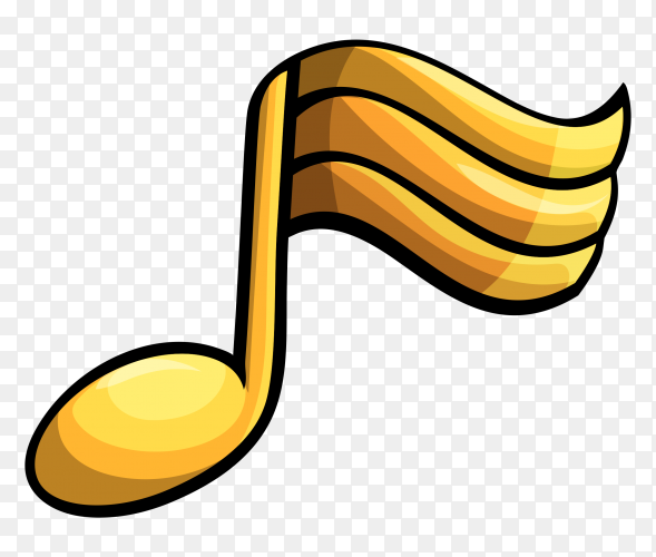 Yellow music icon on transparent background PNG