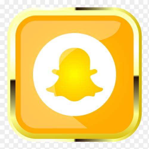 Yellow snapchat logo on transparent background PNG