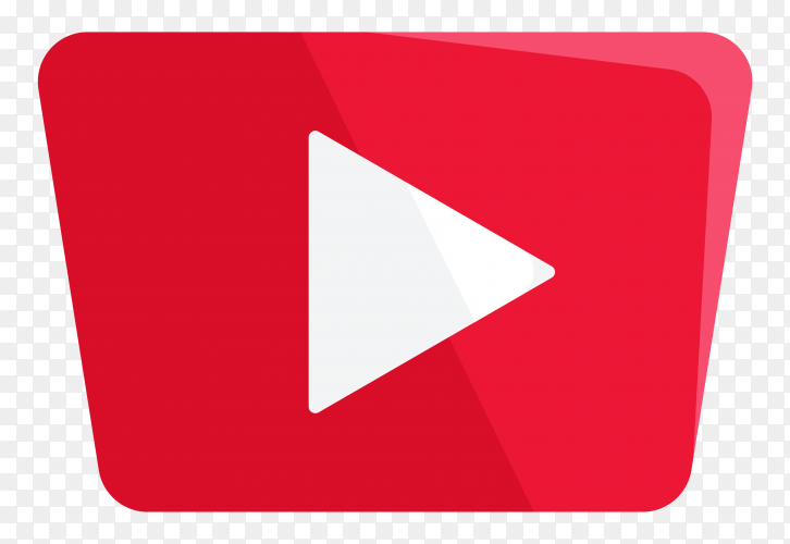 Youtube icon premium vector PNG