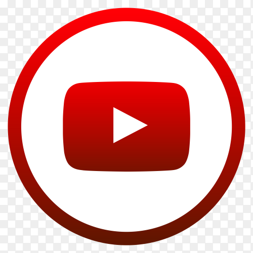 Youtube logo icon premium vector PNG