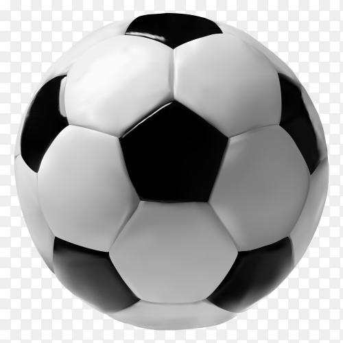 3D football isolated on transparent background PNG