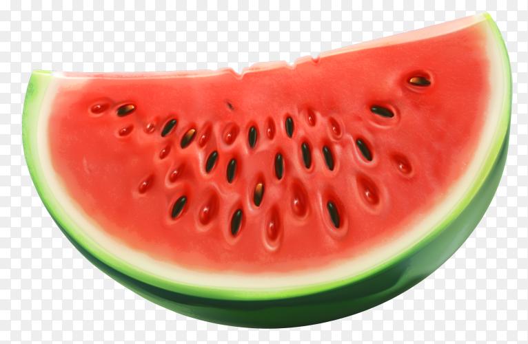 3D fresh watermelon premium vector PNG