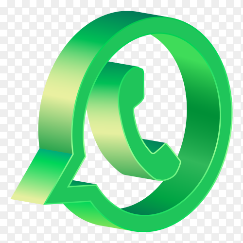 3D whatsapp icon design premium vector PNG