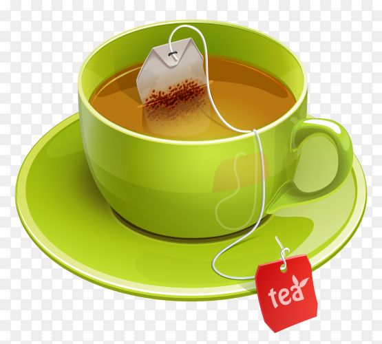 A cup of tea on transparent background PNG