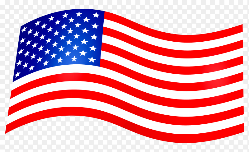Abstract american flag Illustration premium vector PNG