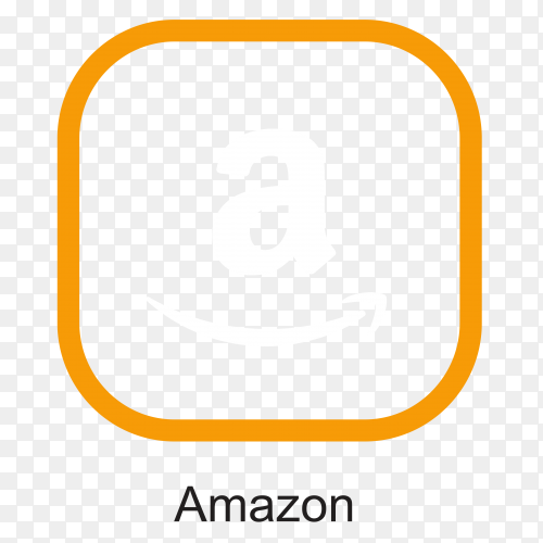 Amazon logo template on transparent PNG