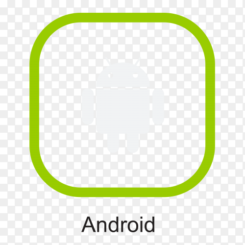 Android icon design premium vector PNG