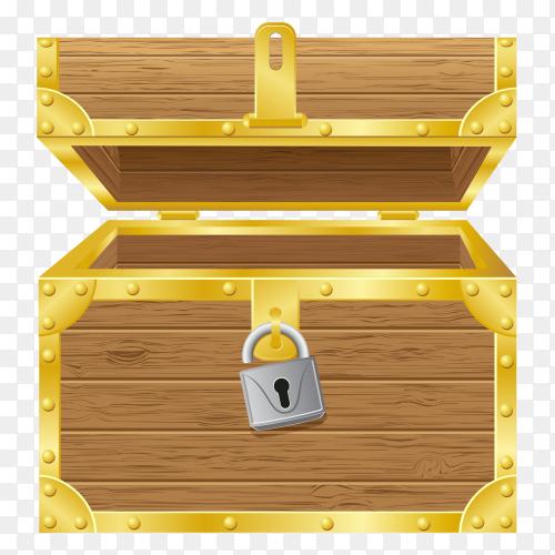 Antique chest illustration premium vector PNG