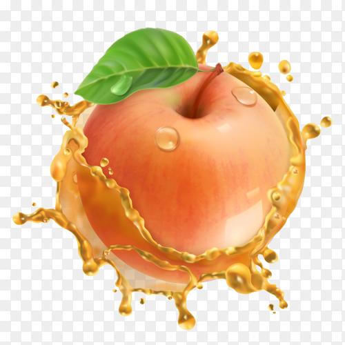 Apple fresh juice splash premium vector PNG