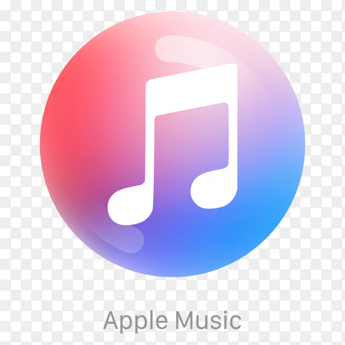 Apple muslic icon design on transparent background PNG