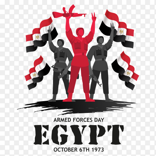 Armed force day egypt on transparent PNG