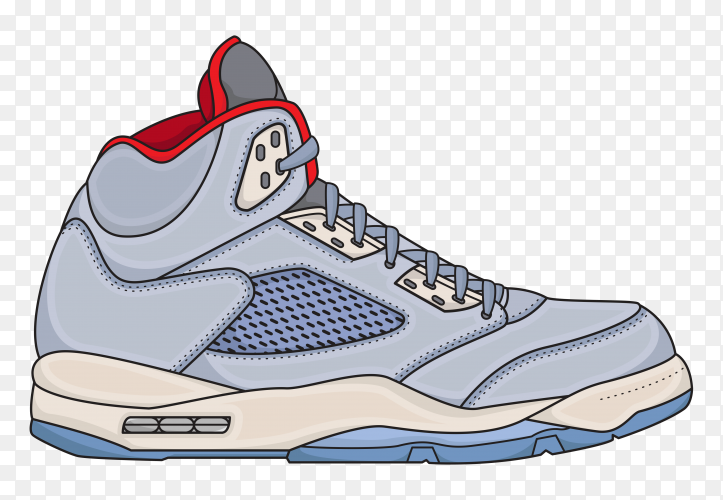 Basketball shoes mens simple on transparent background PNG