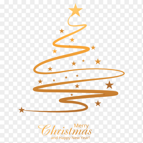 Beautiful merry christmas tree download free PNG