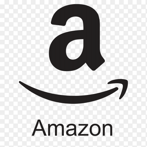 Black Amazon icon template on transparent background PNG