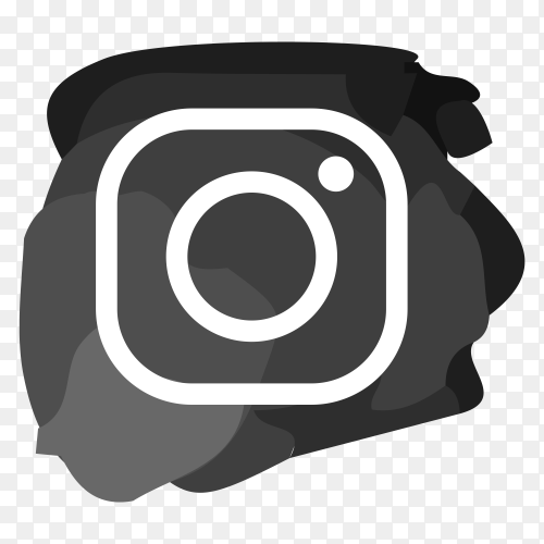 Black Instagram icon design template premium vector PNG