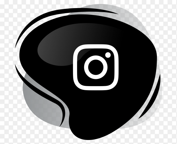 Black Instagram icon logotype on transparent background PNG