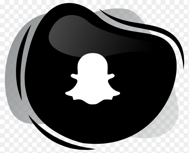 Black Snapchat icon logotype on transparent background PNG