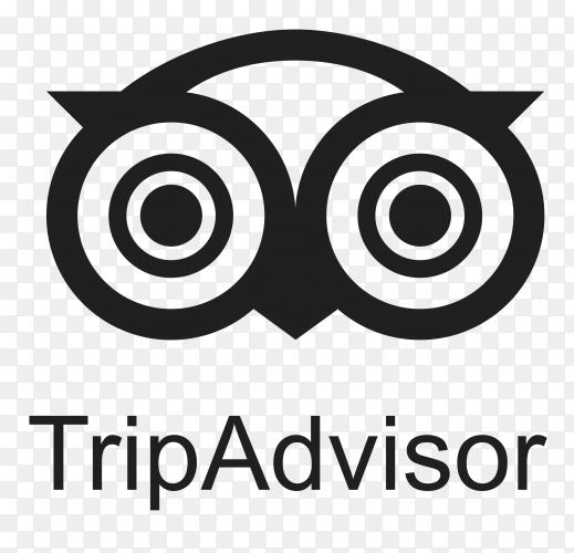 Black TripAdvisor icon design on transparent background PNG