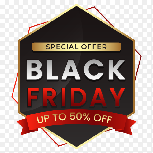 Black friday modern banner design premium vector PNG