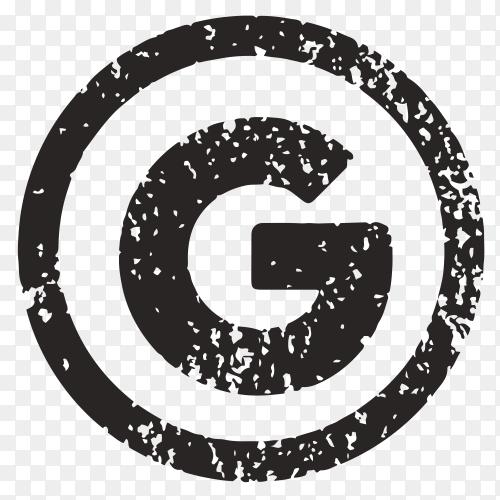 Black google icon design on transparent background PNG
