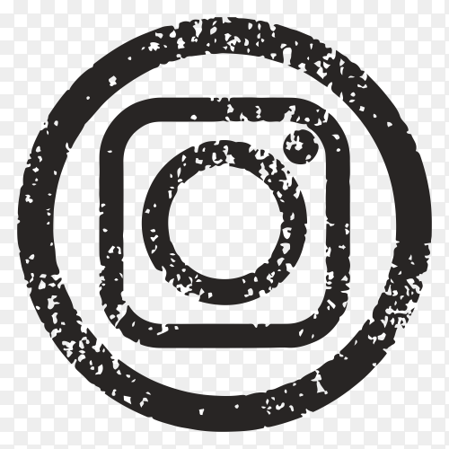 Black instragram icon design on transparent background PNG