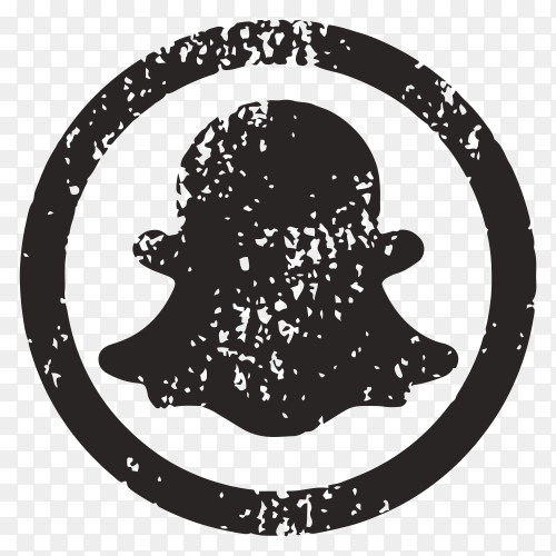 Black snapchat icon design on transparent background PNG