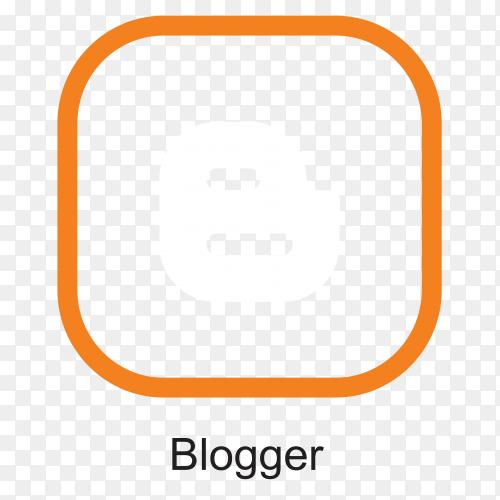 Blogger icon template design premium vector PNG