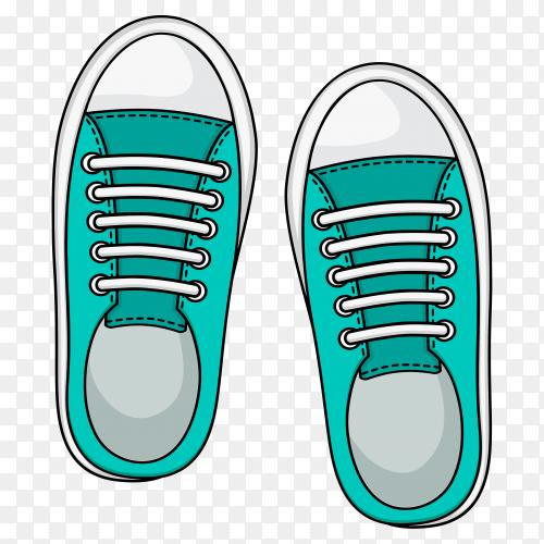 Blue Sneaker casual shoes premium vector PNG