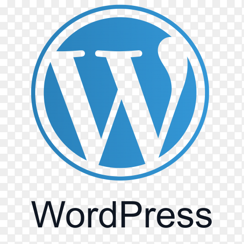 Blue WordPress icon design on transparent background PNG