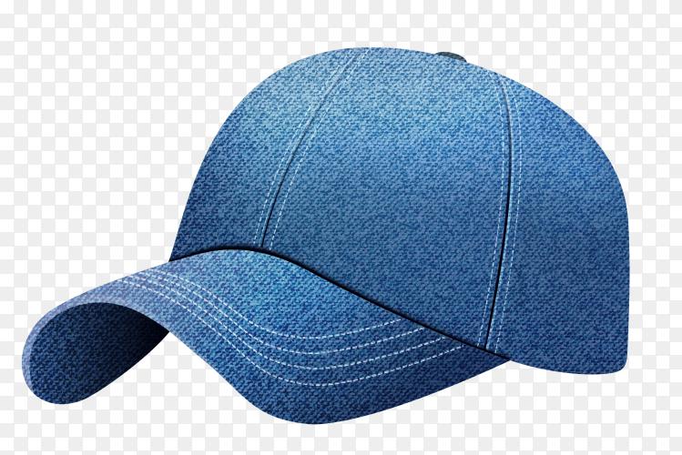 Blue cap illustration on transparent background PNG