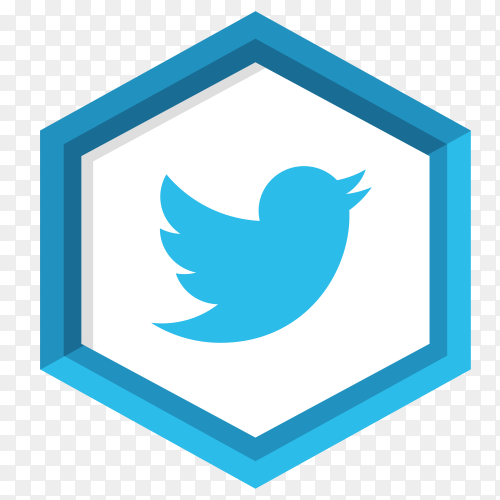 Blue twitter icon design premium vector PNG