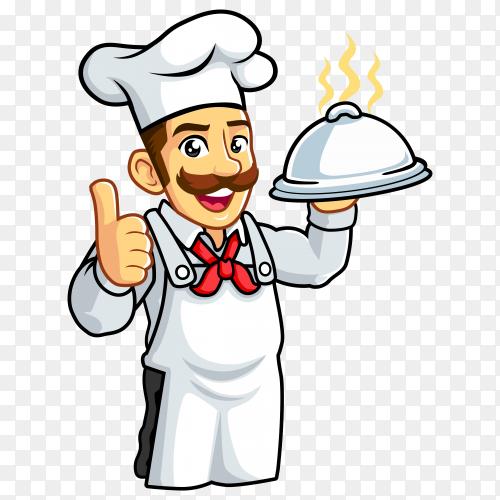 Cartoon chef men design premium vector PNG