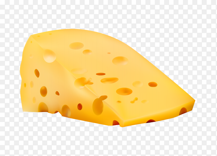 Cheese Illustration on transparent background PNG