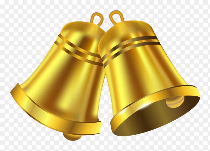 Christmas decoration bells illustration on transparent background PNG