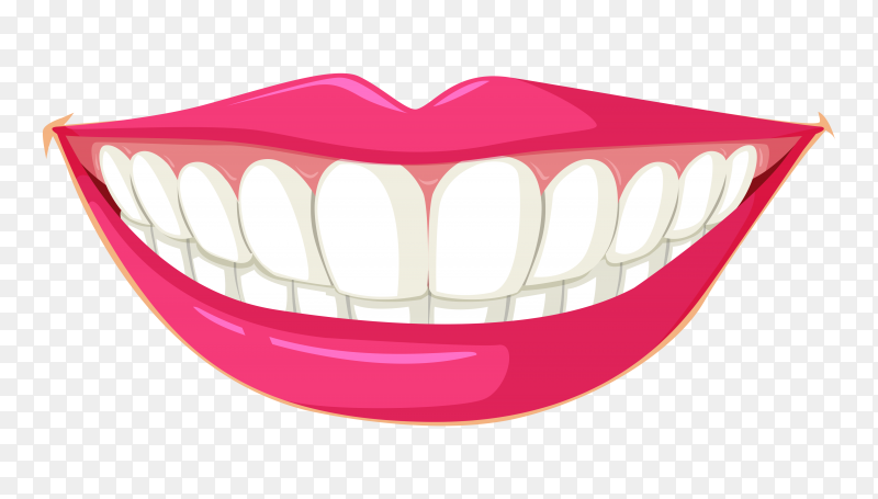 Clean teeth illustration on transparent background PNG