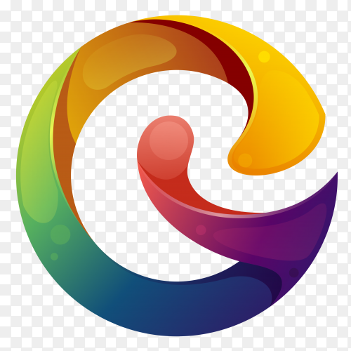 Colorful abstract letter g logo on transparent background PNG