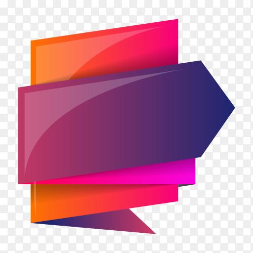 Colorful banner design on transparent PNG